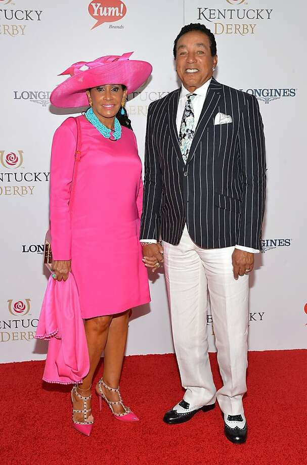 LOUISVILLE, KY - MAY 04:  Musician Smokey Robinson (R) and Frances Robinson celebrate the 139th Kentucky Derby with Moet & Chandon at Churchill Downs on May 4, 2013 in Louisville, Kentucky.  (Photo by Mike Coppola/Getty Images for Moet & Chandon) Photo: Mike Coppola, Getty Images For Moet & Chandon
