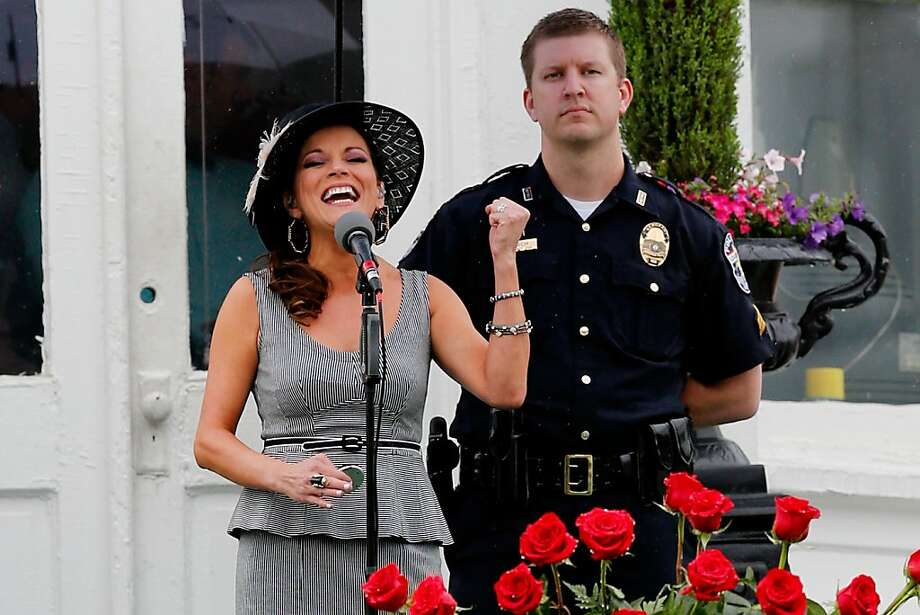 LOUISVILLE, KY - MAY 04:  Country singer Martina Mcbride sings the National Anthem prior to the 139th running of the Kentucky Derby at Churchill Downs on May 4, 2013 in Louisville, Kentucky.  (Photo by Rob Carr/Getty Images) Photo: Rob Carr, Getty Images