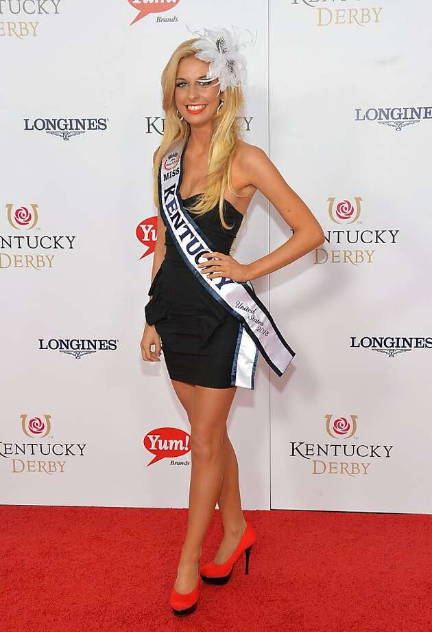 LOUISVILLE, KY - MAY 04:  Miss Kentucky USA Whittney Allen celebrates the 139th Kentucky Derby with Moet & Chandon at Churchill Downs on May 4, 2013 in Louisville, Kentucky.  (Photo by Mike Coppola/Getty Images for Moet & Chandon) Photo: Mike Coppola, Getty Images For Moet & Chandon