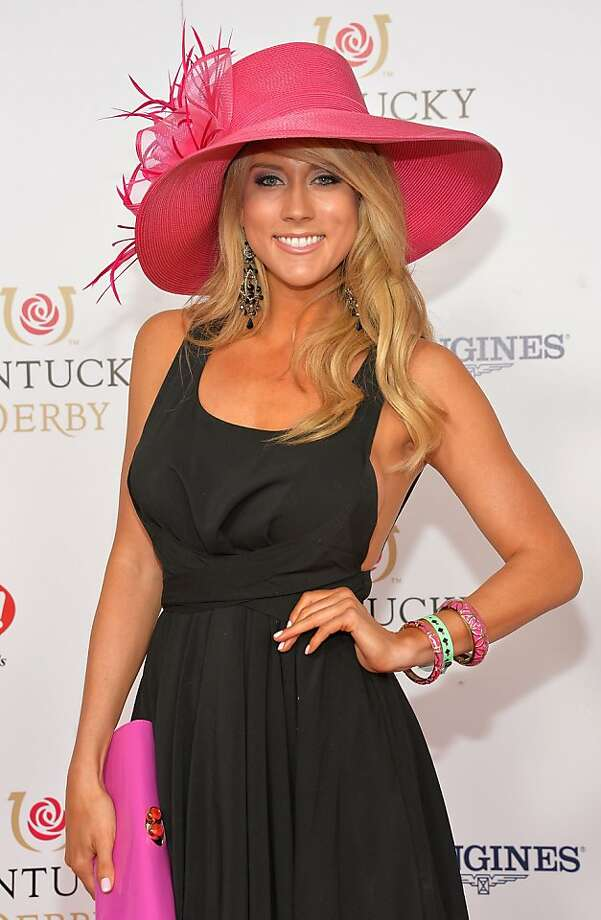 LOUISVILLE, KY - MAY 04:  TV Personality Angela Zatopek celebrates the 139th Kentucky Derby with Moet & Chandon at Churchill Downs on May 4, 2013 in Louisville, Kentucky.  (Photo by Mike Coppola/Getty Images for Moet & Chandon) Photo: Mike Coppola, Getty Images For Moet & Chandon