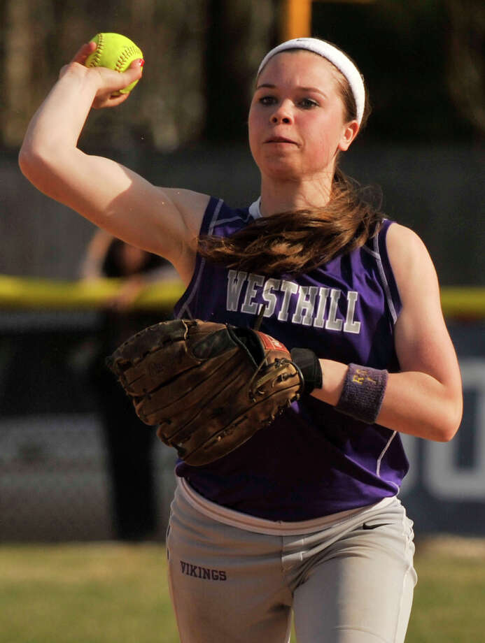 Shortstop Morgan Kurtz leads a Westhill team that is averaging 10.3 runs a game. Photo: Jason Rearick / The (Stamford) Advocate