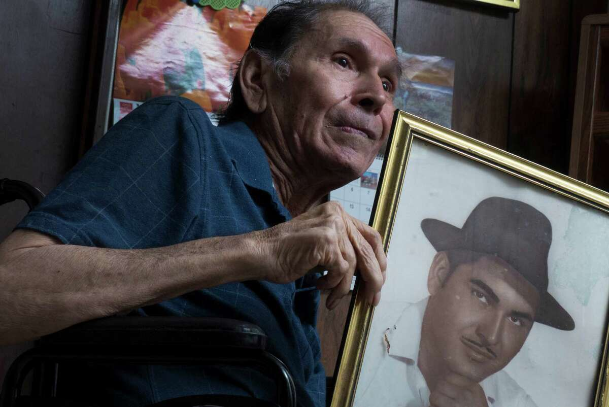 Modesto Rodriguez, 71, who in 1975 testified in favor of the Voting Rights Act applying to Texas, sits at home in Pearsall on Friday, May 3, 2013. Rodriguez, former chairman of the Frio County Raza Unida Party, was beaten in Pearsall shortly after after testifying, allegedly for his stance, said his sister, Modesta Rodriguez Salazar. He has suffered a stroke and is in poor health.