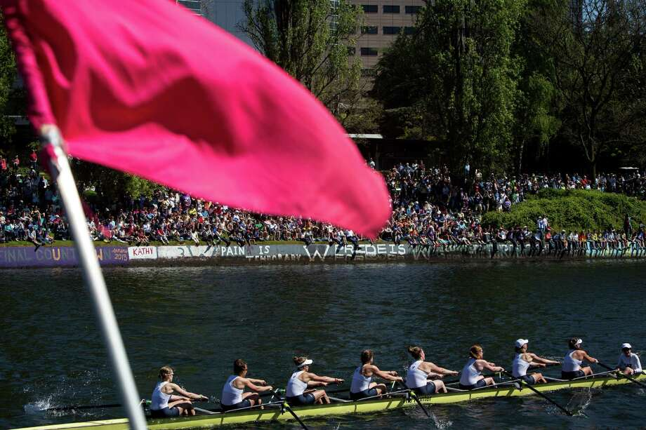 Women of the University of Washington lock in their first place win during the Erickson Cascade Cup Saturday, May 4, 2013, in Seattle. Photo: JORDAN STEAD, SEATTLEPI.COM / SEATTLEPI.COM