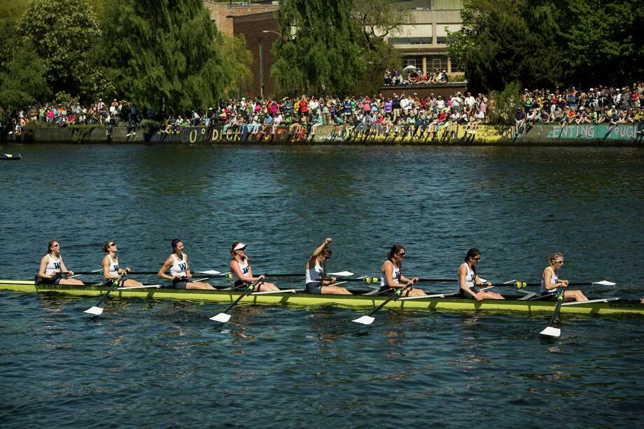 Women of the University of Washington celebrate their first place win at the Windermere Cup Saturday, May 4, 2013, in Seattle. Photo: JORDAN STEAD, SEATTLEPI.COM / SEATTLEPI.COM