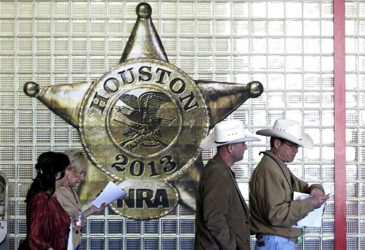 Saturday at the NRA convention in downtown Houston