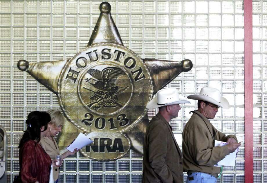 Saturday at the NRA convention in downtown Houston Photo: Johnny Hanson/Chronicle