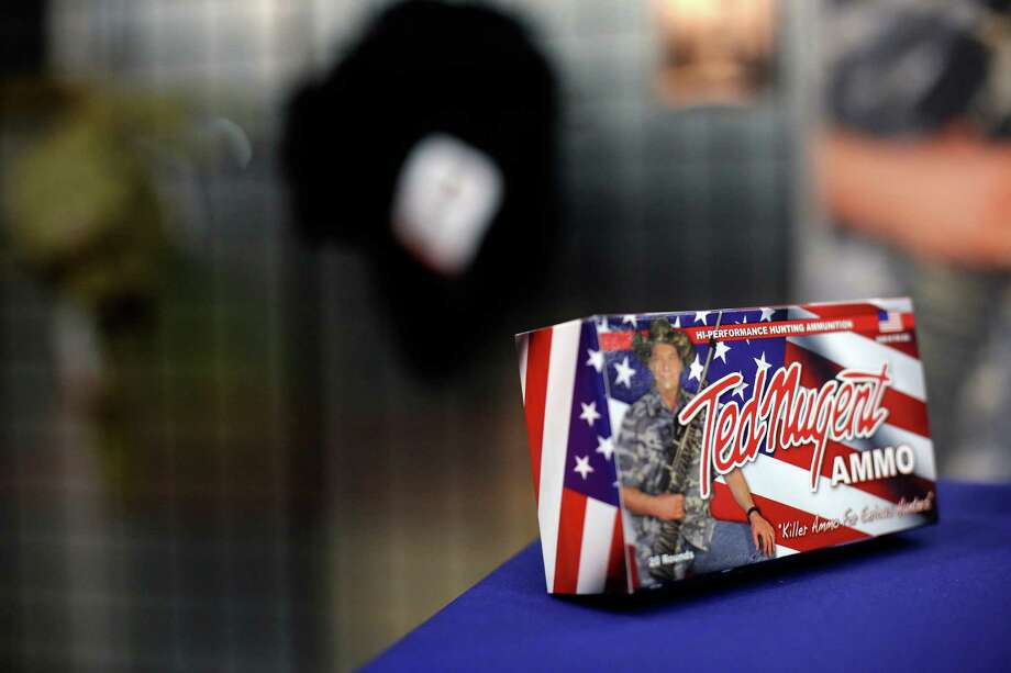 A box of Ted Nugent ammo is seen, during day 1 of the 142nd NRA annual meetings and exhibits, Friday, May 3, 2013 at the George R Brown convention center in  (TODD SPOTH FOR THE CHRONICLE) Photo: © TODD SPOTH, 2013 / © TODD SPOTH, 2013
