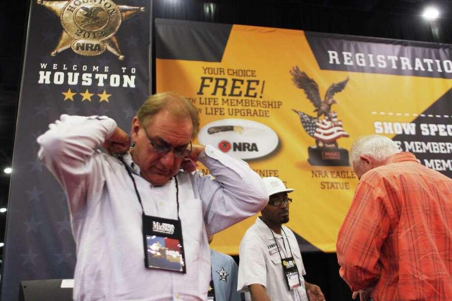 New NRA member Tim Armand of Houston. Photo: Johnny Hanson/Chronicle