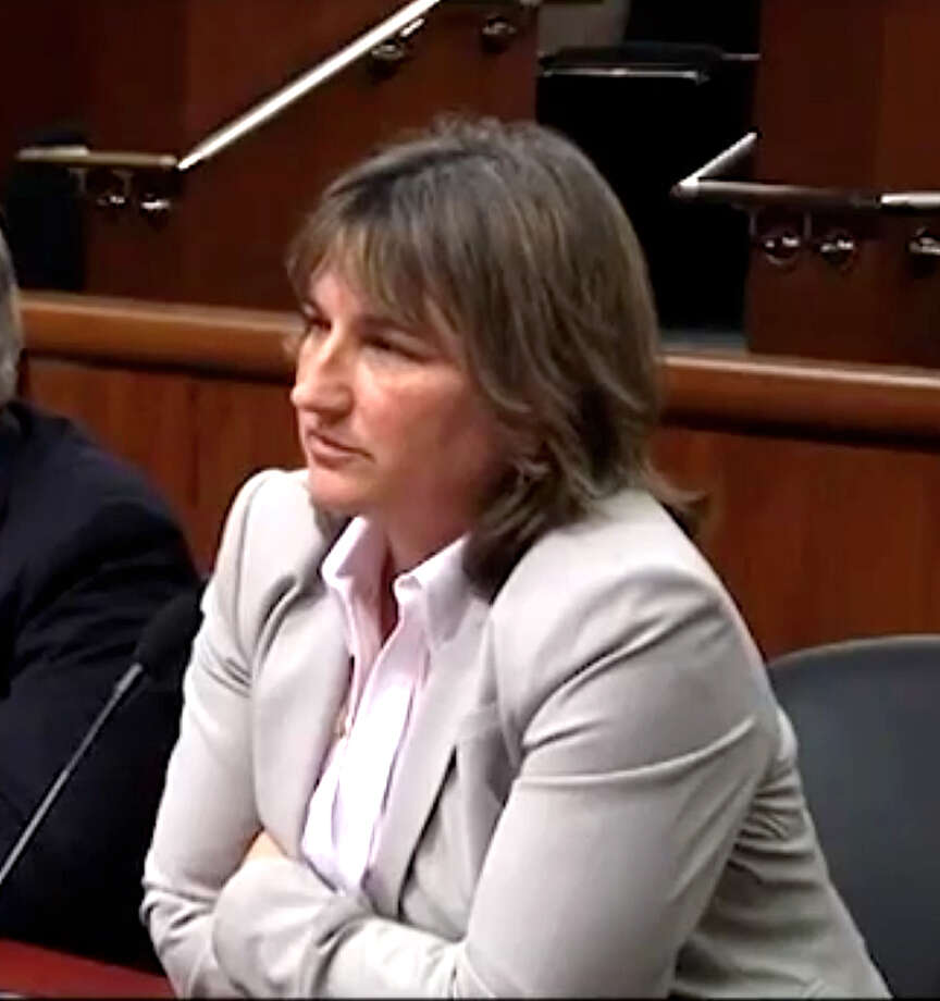 Karen Moreau, executive director of the NYS Petroleum Council, speaks during an Assembly Hearing on fracking regulations, Jan. 10, 2012. (Youtube)