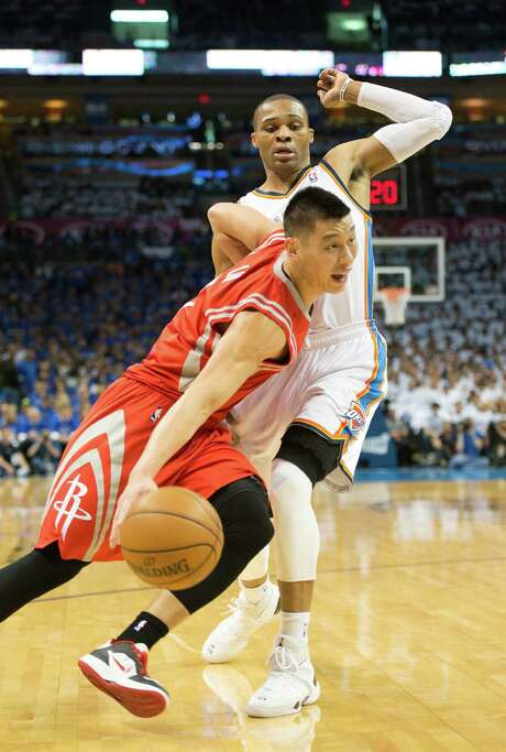 Rockets point guard Jeremy Lin, fresh off his first full season in the NBA and motivated by the playoff exit,is driven to improve all aspects of his game. Photo: Smiley N. Pool, Staff / © 2013  Houston Chronicle