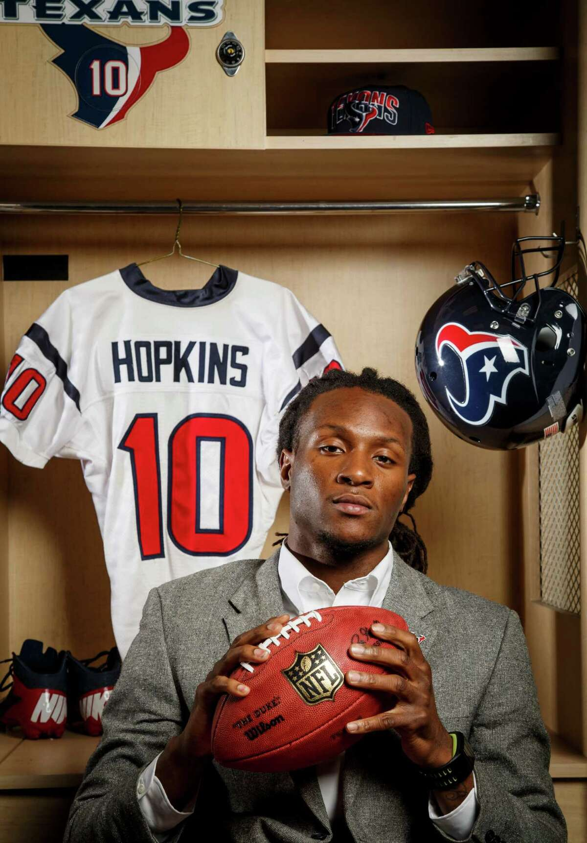 The Texans' first-round draft pick, DeAndre Hopkins, has overcome adversity for much of his life.