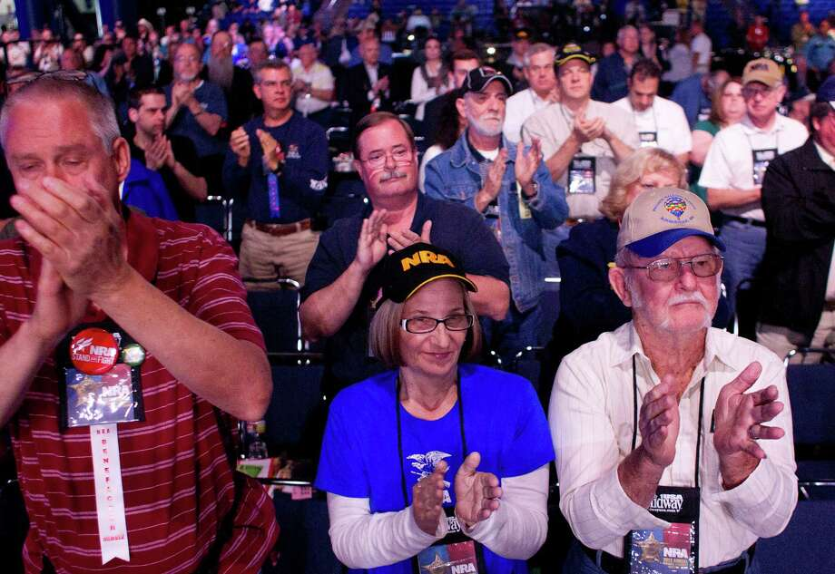 Thousands of NRA members gathered during the NRA Annual Meeting of Members at the National Rifle Association's 142 Annual Meetings and Exhibits in the George R. Brown Convention Center Saturday, May 4, 2013, in Houston. Photo: Johnny Hanson, Houston Chronicle / © 2013  Houston Chronicle