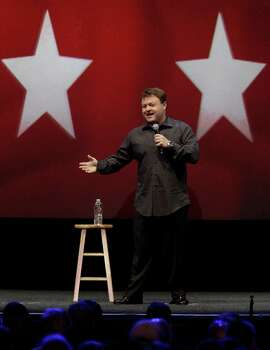 Frank Caliendo, comedian and impressionist, performs during the NRA convention at the George R. Brown Convention Center  Saturday, May 4, 2013, in Houston. Photo: Melissa Phillip, Houston Chronicle / © 2013  Houston Chronicle