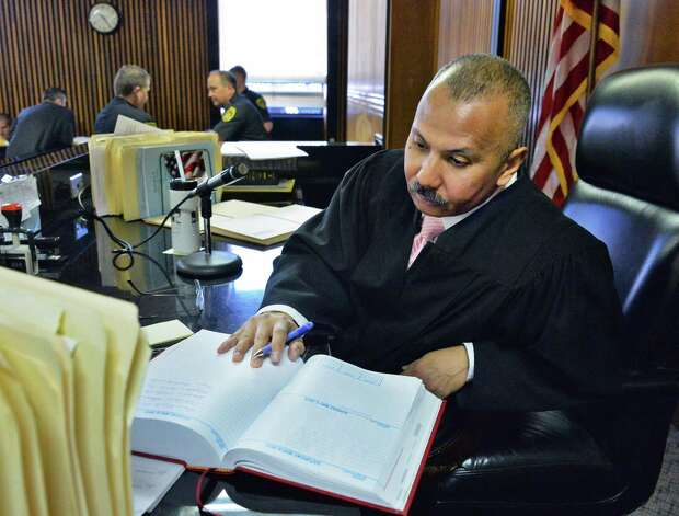 Judge William Carter presides over Albany City Criminal Court in Albany, NY May 1, 2013.  (John Carl D'Annibale / Times Union) Photo: John Carl D'Annibale / 10022207B