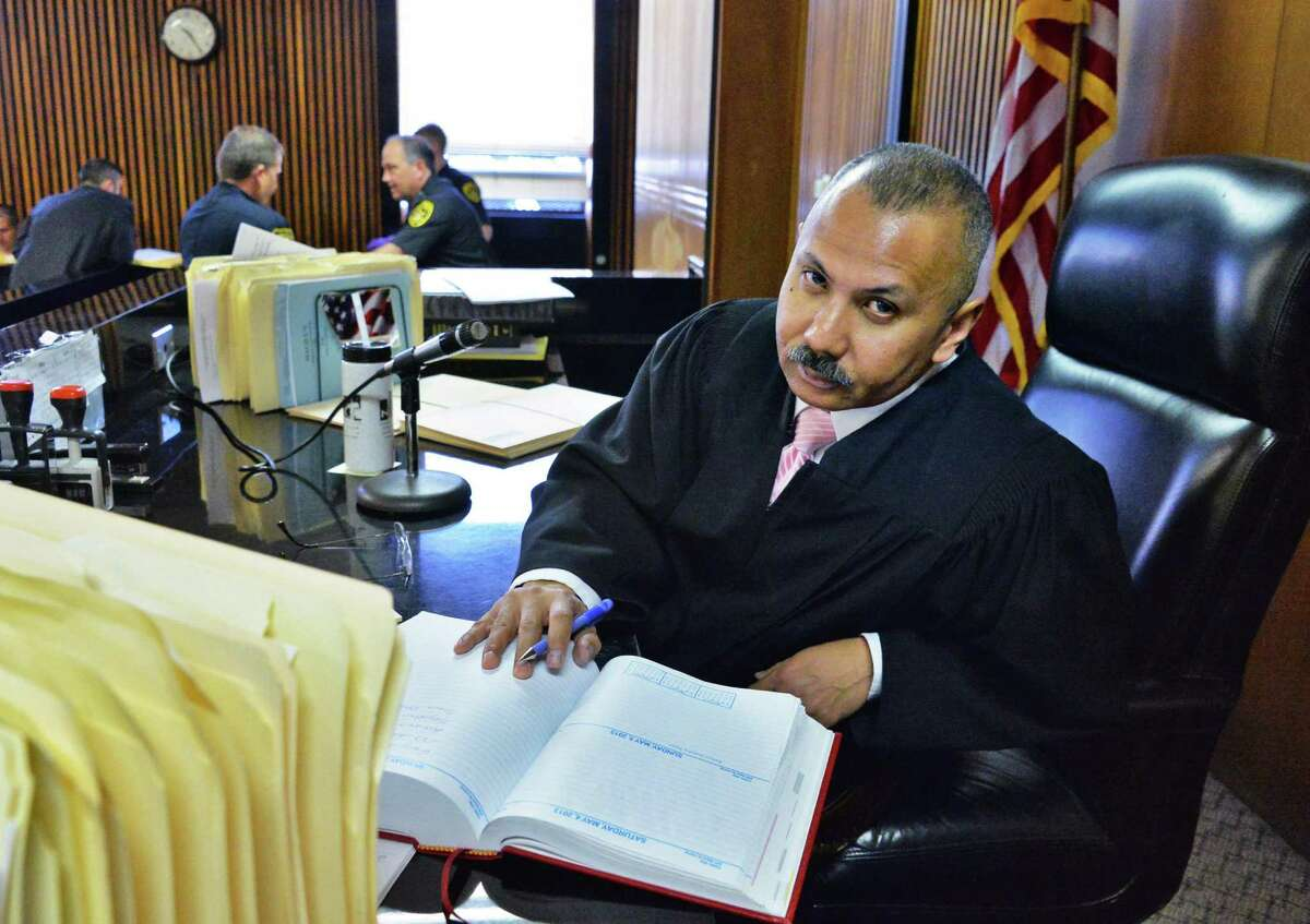 Judge William Carter presides over Albany City Criminal Court in Albany, NY May 1, 2013. (John Carl D'Annibale / Times Union)