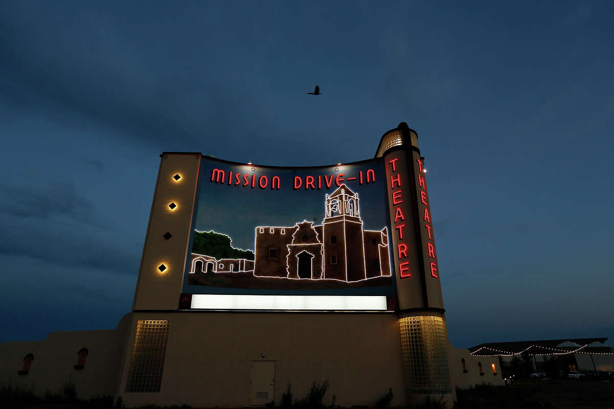 A view of the Mission Drive-In Theatre Saturday May 4, 2013 during the grand re-opening of the Mission Drive-In Plaza.
