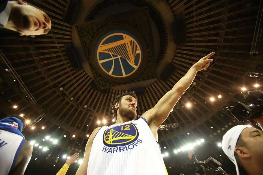 Warriors center Andrew Bogut had a breakout game in the series clincher against Denver with 14 points and 21 rebounds. Photo: Jed Jacobsohn / Getty Images