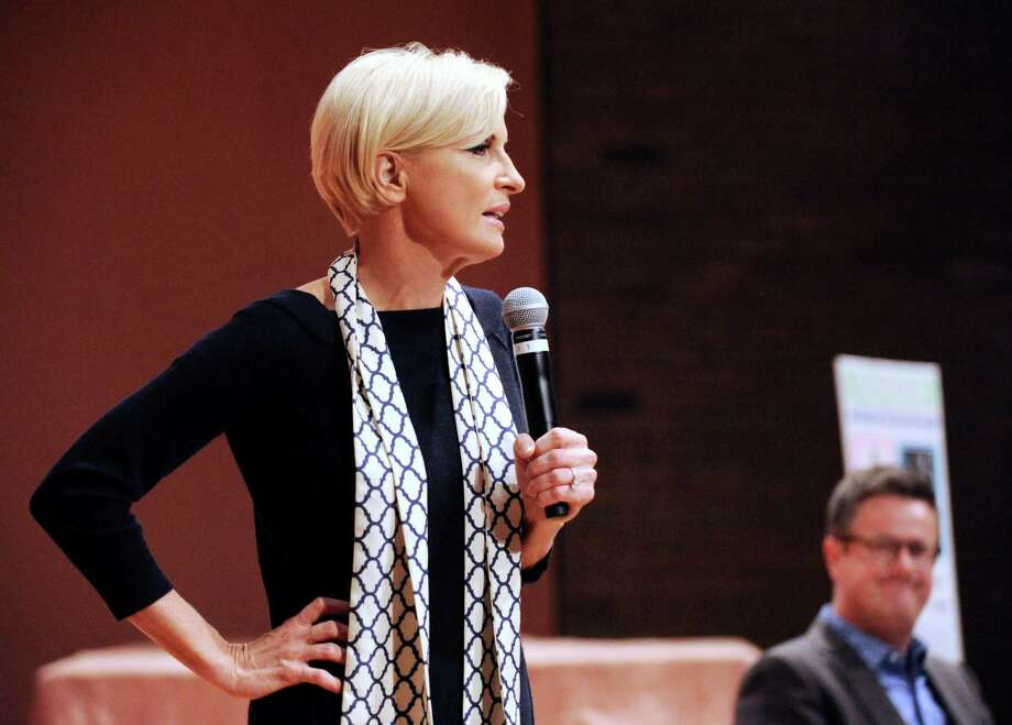 """Mika Brezinski and Joe Scarborough, co-hosts of  MSNBC's """"'Morning Joe,"""" will appear together at the New Canaan Library on Saturday, May 11, 2013. Photo: Bob Luckey / Greenwich Time"""