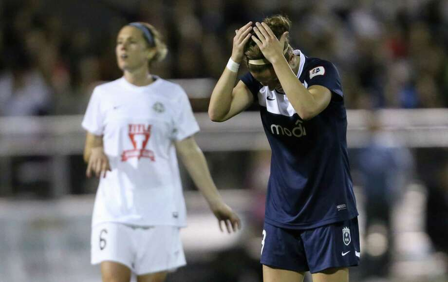 Seattle Reign FC player Christine Nairn reacts after she missed a goal attempt against FC Kansas City during the Reign's first home match on May 4, 2013 at Starfire Sports in Tukwila. Reign FC is Seattle's new women's pro soccer team. They lost to Kansas 0-1. Photo: JOSHUA TRUJILLO, SEATTLEPI.COM / SEATTLEPI.COM