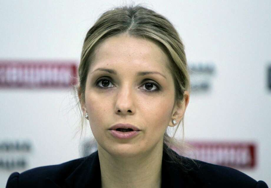 Eugenia Tymoshenko daughter of jailed former Ukrainian Prime Minister Yulia Tymoshenko speaks during a news conference in Kiev, Ukraine,  Tuesday, April 30, 2013. Europe's human rights court in Strasbourg, France, ruled Tuesday that Ukraine's jailing of former Prime Minister Yulia Tymoshenko was a politically motivated violation of her rights, but it is unclear if the European court ruling would be legally binding in Ukraine. Photo: AP