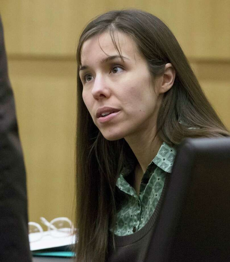 Defendant Jodi Arias talks with her attorney during her trial at Maricopa County Superior Court in Phoenix on Thursday, April 25, 2013.  Arias is on trial for the killing of her boyfriend, Travis Alexander, in Mesa in 2008.   If convicted, Arias faces a potential death sentence. Photo: AP