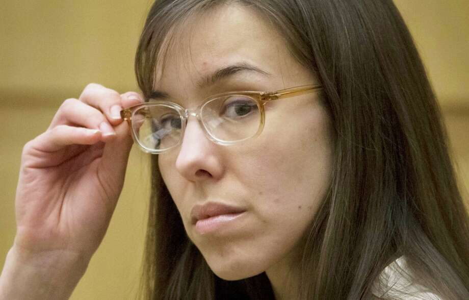 Defendant Jodi Arias sits in the courtroom during her trial at Maricopa County Superior Court in Phoenix on Wednesday, May 1, 2013.  Arias is charged with first-degree murder in the stabbing and shooting death of Travis Alexander, 30, in his suburban Phoenix home in June 2008. Photo: AP