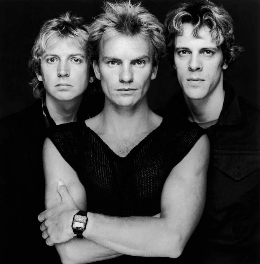 A portrait of British pop group The Police, from left to right, Andy Summers, Sting and Stewart Copeland, early 1980s. Photo: Terry O'Neill, Getty / 2005 Getty Images