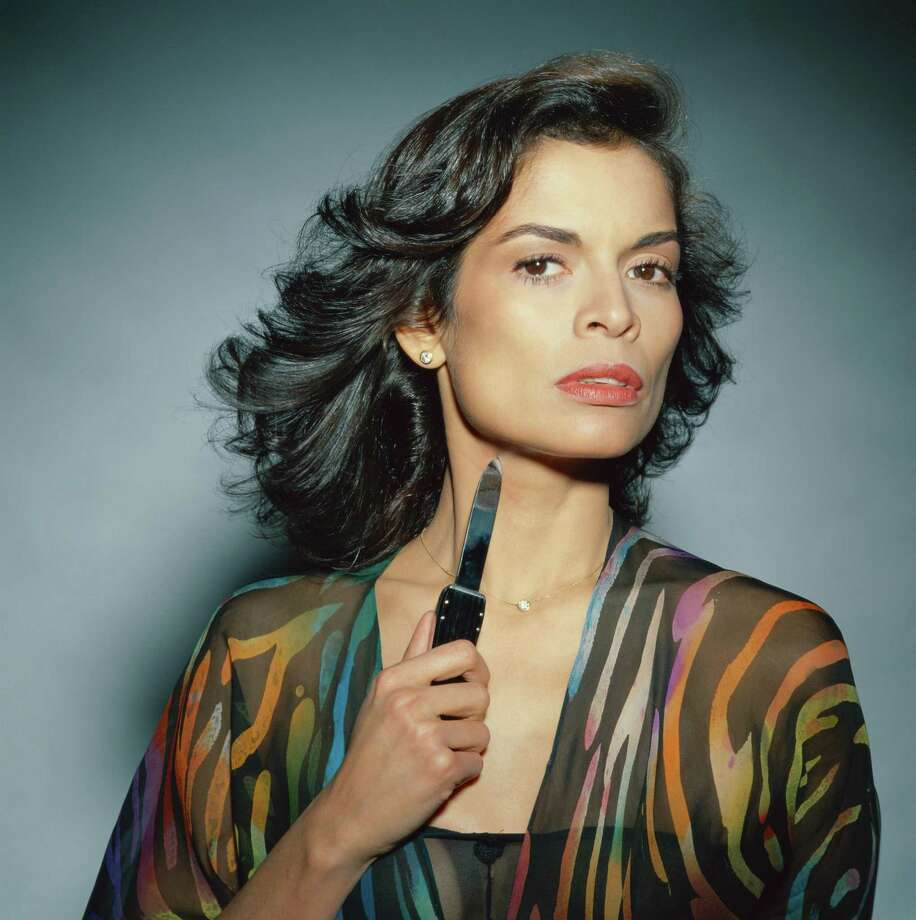 Model Bianca Jagger posing with a small knife in a publicity shot for the film 'The American Success Company', Munich, 1978. Photo: Krause, Johansen, Getty / 2005 Getty Images