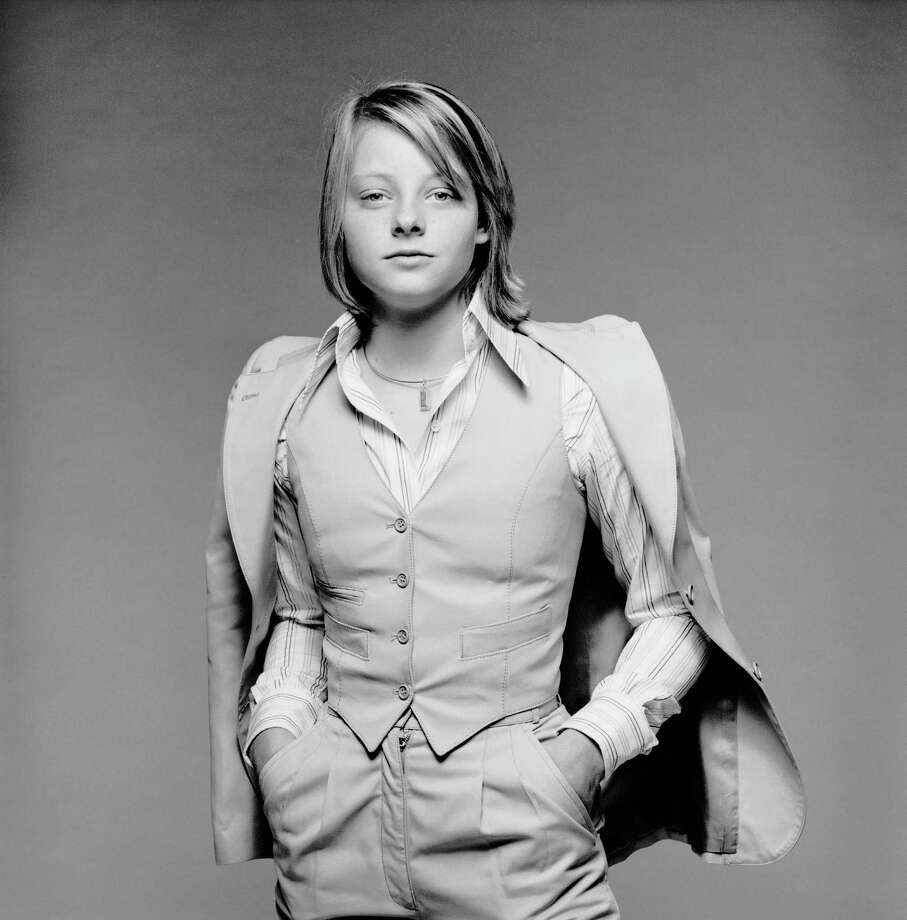 Young actress Jodie Foster posing in a three piece suit, during a visit to London to promote 'Bugsy Malone', 1976. Photo: Terry O'Neill, Getty / 2005 Getty Images