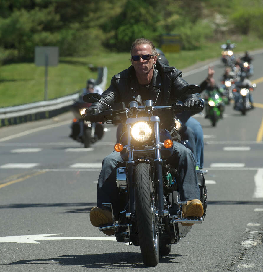 Riders in the Green Ribbon Ride pass through Newtown, Conn on Sunday, May 5th, 2013. Photo: H John Voorhees III