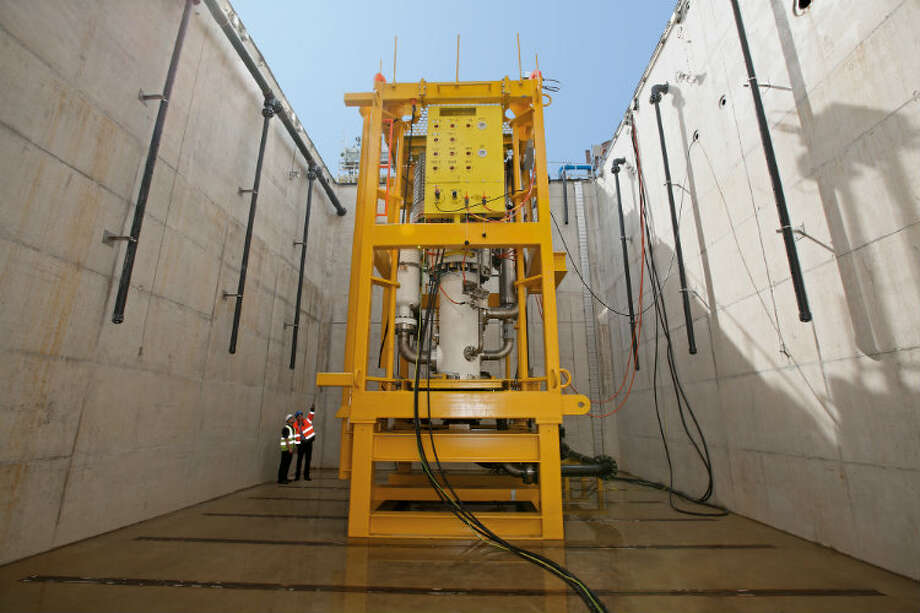 The high-speed, helico-axial multiphase subsea boosting system from FMC Technologies and Sulzer Pumps.