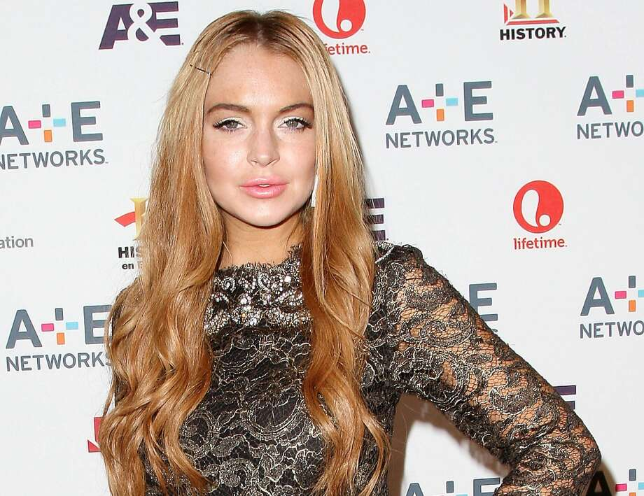 This May 9, 2012 photo shows actress Lindsay Lohan at the A&E Networks 2012 Upfront at Lincoln Center in New York.