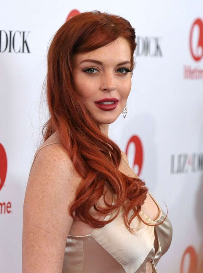 "Actress Lindsay Lohan attends a dinner celebrating the premiere of ""Liz & Dick"" at the Beverly Hills Hotel on Tuesday, Nov. 20, 2012, in Beverly Hills, Calif."