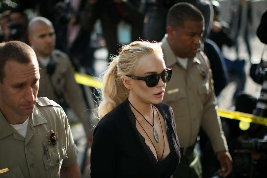 Lindsay Lohan arrives for a preliminary hearing at the Airport Courthouse on Feb. 23, 2011 in Los Angeles