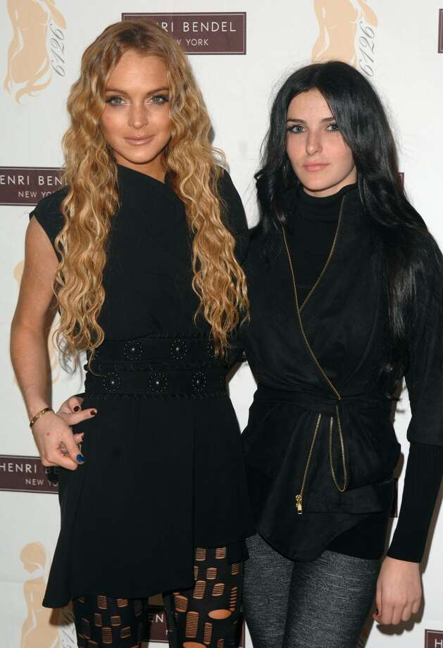Actress Lindsay Lohan and sister Ali Lohan make an appearance at Henri Bendel's to promote Lindsay's new collection of legging's called 6126 on Oct. 13, 2008, in New York.