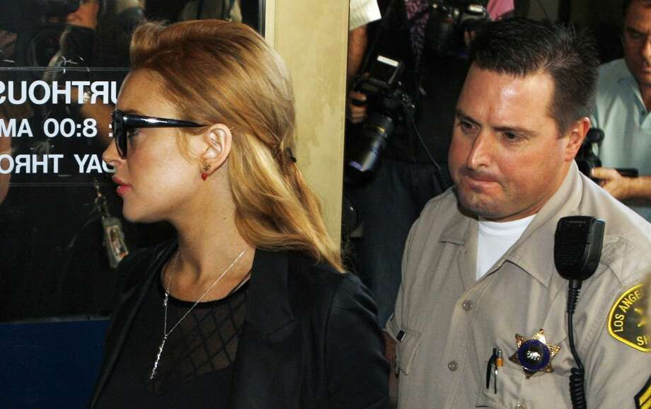 Lindsay Lohan arrives for a hearing at the Beverly Hills Courthouse in Beverly Hills, Calif., Sept. 24, 2010.