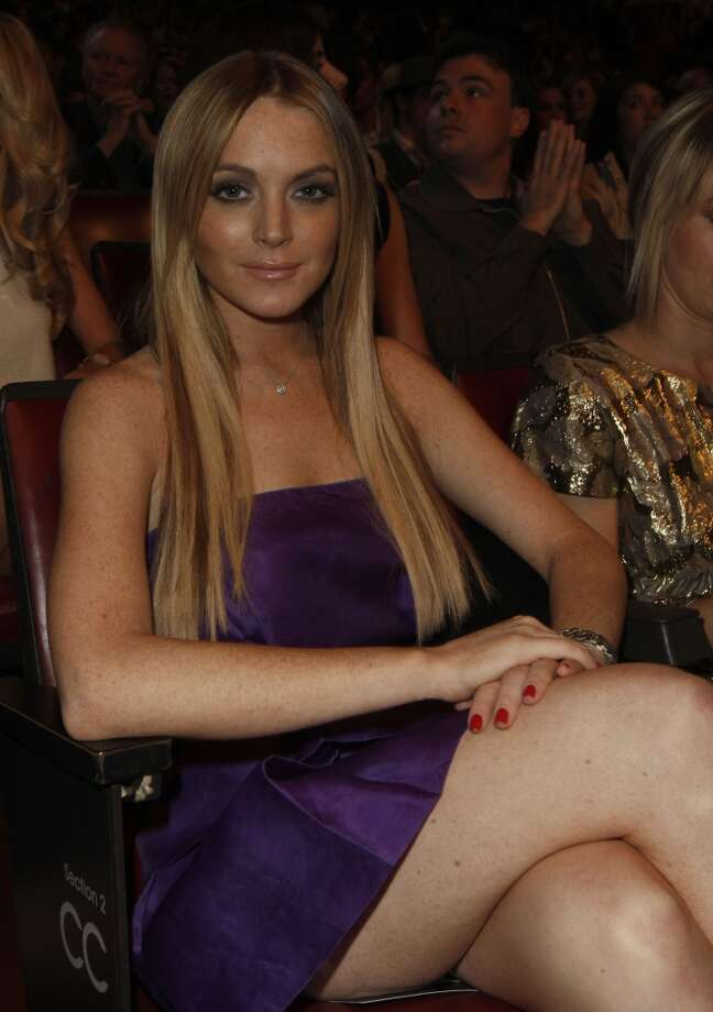 Lindsay Lohan is seen at the MTV Movie Awards on Sunday June 1, 2008 in Los Angeles.