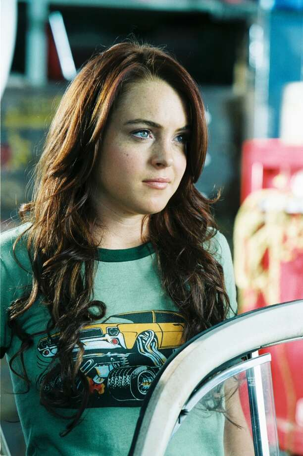 "HERBIE: FULLY LOADED -- Lindsay Lohan in a promo for the movie ""Herbie: Fully Loaded, which came out in 2005."
