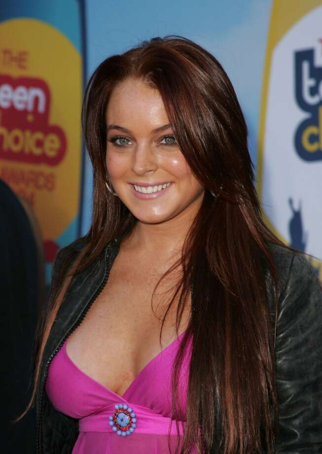 Lindsay Lohan attends the 2004 Teen Choice Awards held at the Universal Ampitheatre in Universal City, California, on Aug. 8, 2004.