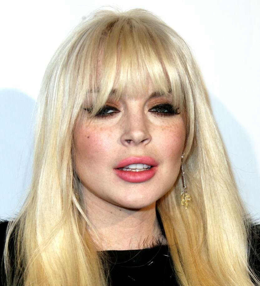 Lindsay Lohan attends Domingo Zapata's Oscar Art Show Presented by  Mr. C Beverly Hills on Feb. 22, 2012 in Beverly Hills