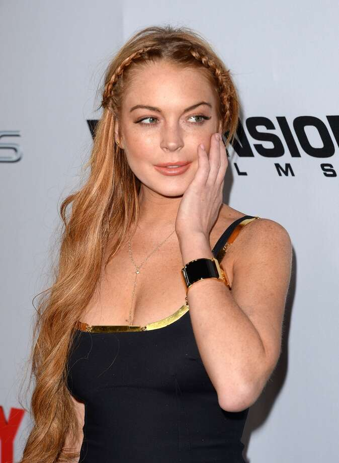 "Actress Lindsay Lohan arrives at the Dimension Films' ""Scary Movie 5"" premiere at the ArcLight Cinemas Cinerama Dome on April 11, 2013 in Hollywood."