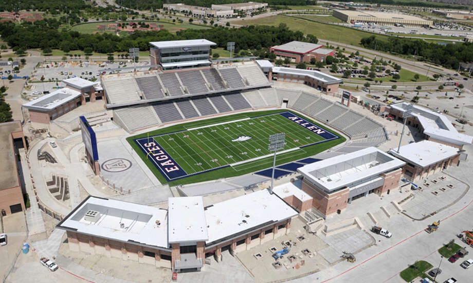 Allen Stadium: The new $60 million stadium might make some Texans shake their heads in disbelief, but regardless of the money, it ranks fifth among the largest high school stadiums. It can seat 18,000 people.