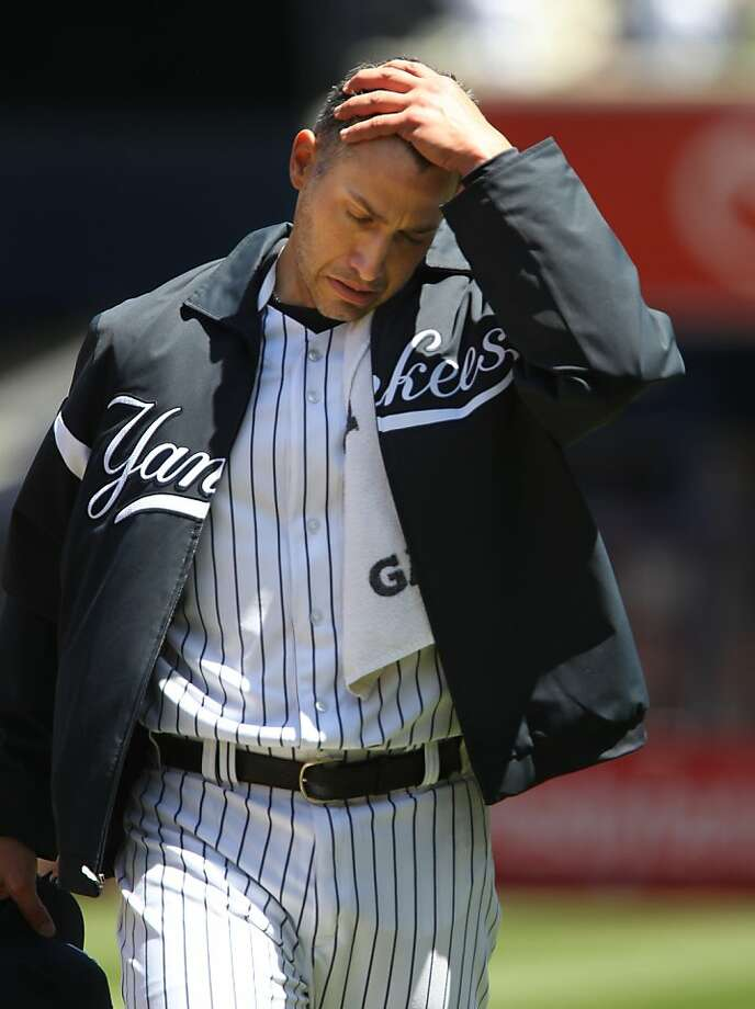 New York Yankees starting pitcher Andy Pettitte walks to the dugout before the start of a baseball game against the Oakland Athletics in New York on Sunday, May 5, 2013. (AP Photo/Peter Morgan) Photo: Peter Morgan, Associated Press