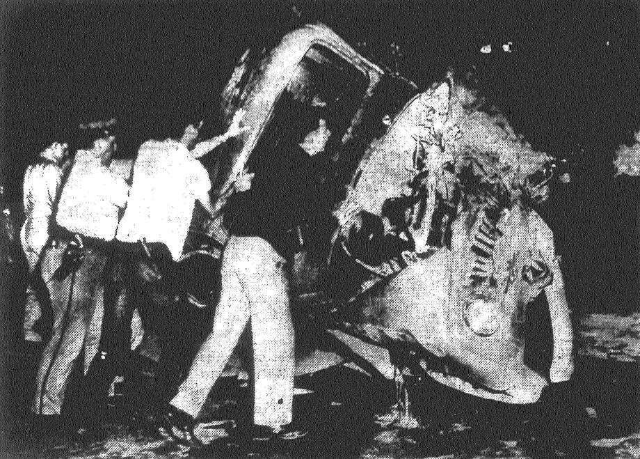 John Thomas Jones, 19, a student at Southwest State College, was killed and five airmen were injured in a head-on collision of a pickup and an auto at the intersection of S. Presa Street and Loop 13. Published in the San Antonio Light May 7, 1953. Photo: File Photo