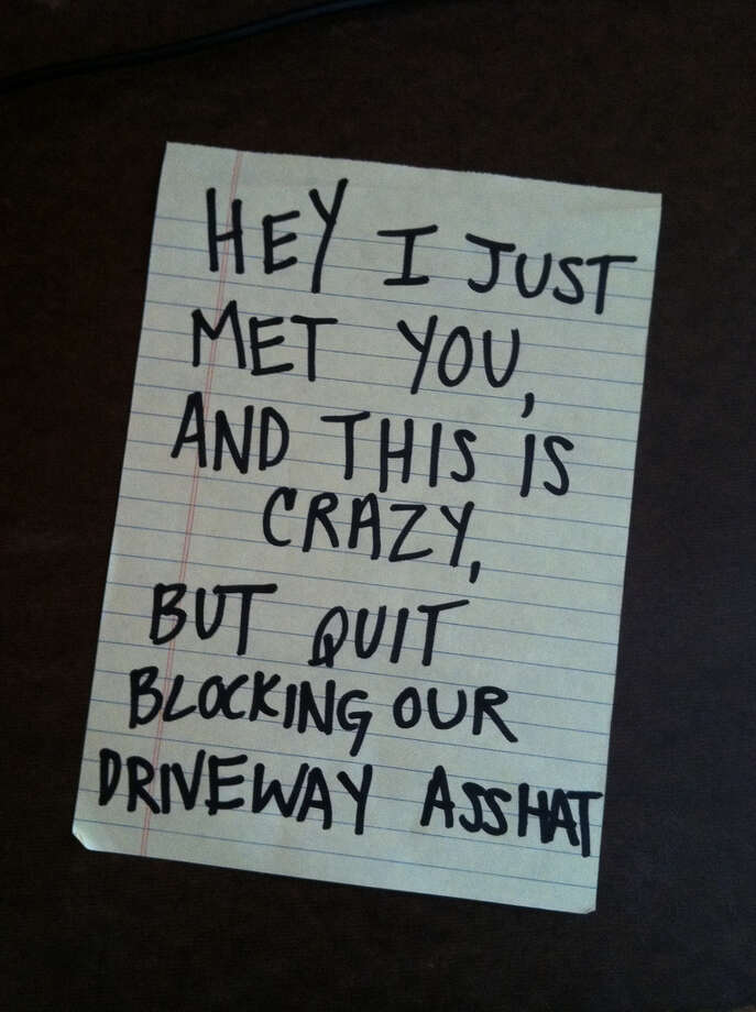 This one comes from our own Oakland, CA. Photo via Passive Aggressive Notes.