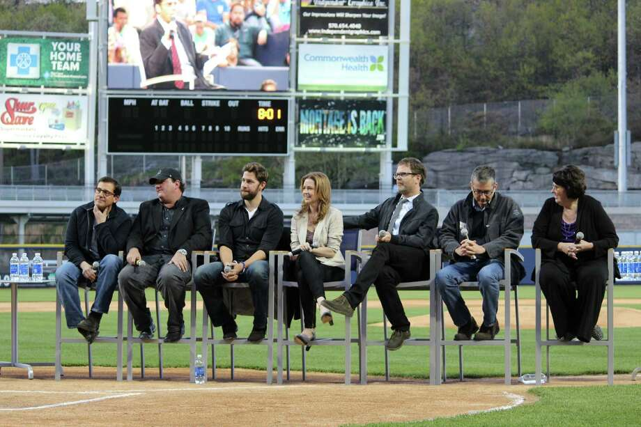 """Cast, crew and fans of """"The Office"""" gather on Saturday, May 4, in Scranton, Pa., for a party to celebrate the series. The NBC sitcom, set in the northeastern Pennsylvania city, will air its final episode on May 16. Photo: Trudi Shaffer/Times Union"""