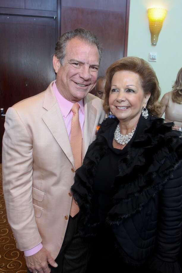 Michael Cordua and Philamena Baird at the Latin Women's Initiative luncheon and fashion show.