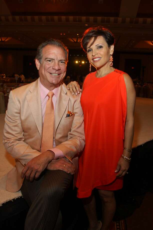 Chairs Lucia and Michael Cordua at the Latin Women's Initiative luncheon and fashion show.