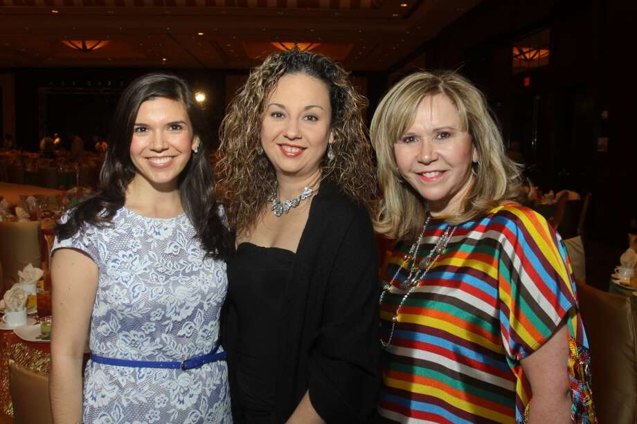 Gloria Bounds, from left, Karla Rosa and Cyndy Garza Roberts at the Latin Women's Initiative luncheon and fashion show.