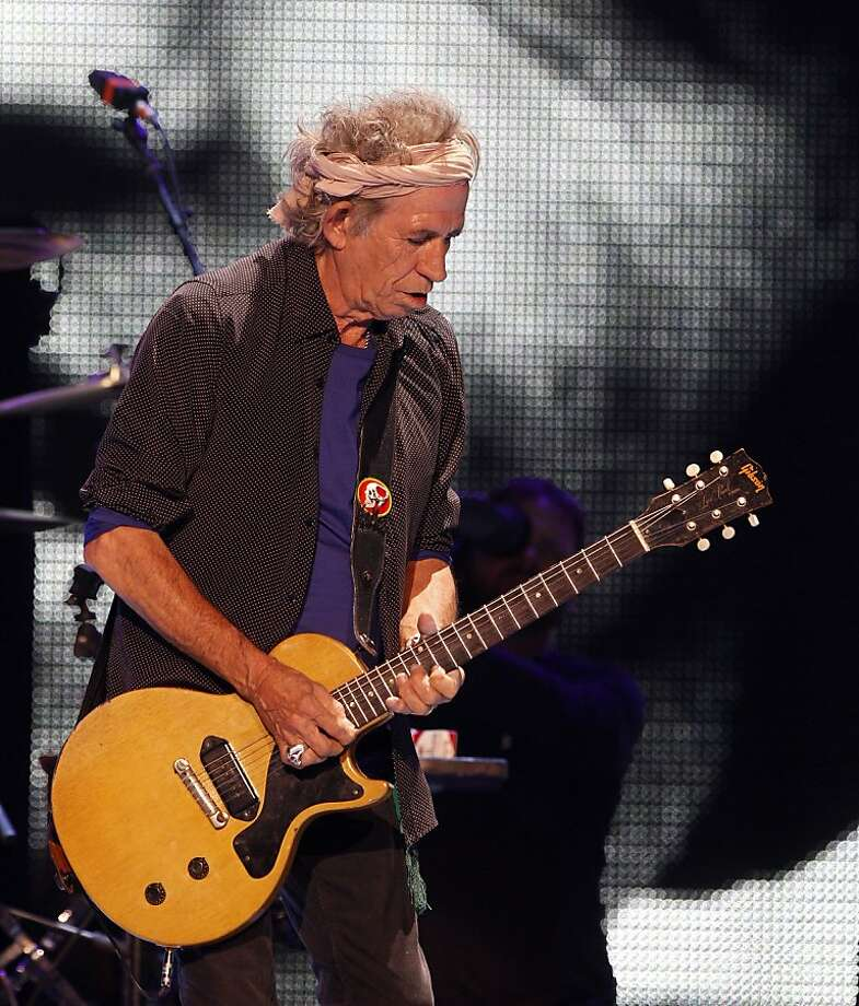 Keith Richards plays during the opening of the Rolling Stones' performance on Sunday. The Rolling Stones played the Oracle Arena in Oakland, Calif., on Sunday, May 5, 2013, as part of their 50th anniversary tour. Photo: Carlos Avila Gonzalez, The Chronicle